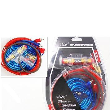 Venta caliente1500w 8ga Car Audio Subwoofer Amplificador Amp Cableado Fusible Holder Cable Kit