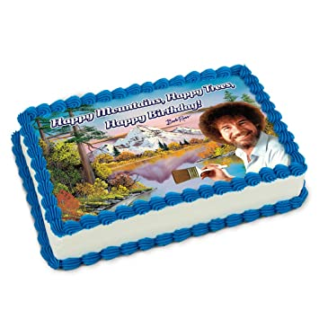 graphic about Edible Printable Paper called Formal Bob Ross \