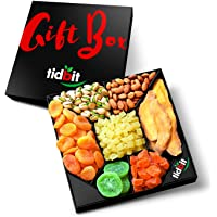 Tidbit Holiday Fruit & Nut Gift Basket Platter Healthy Gourmet Snack - Perfect for THANKSGIVING, CHRISTMAS, Family…