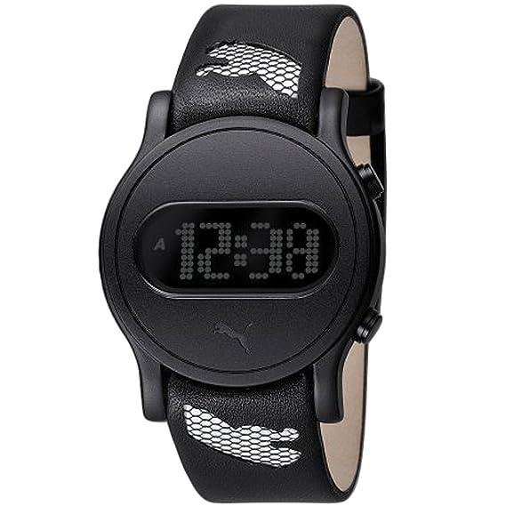 Puma Time - Reloj digital de cuarzo para mujer con correa de plástico, color negro: Amazon.es: Relojes