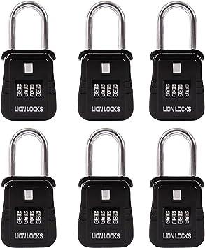 Amazon Com Lion Locks 1500 Key Storage Realtor Lock Box With Set Your Own Combination 6 Pack Black Home Improvement