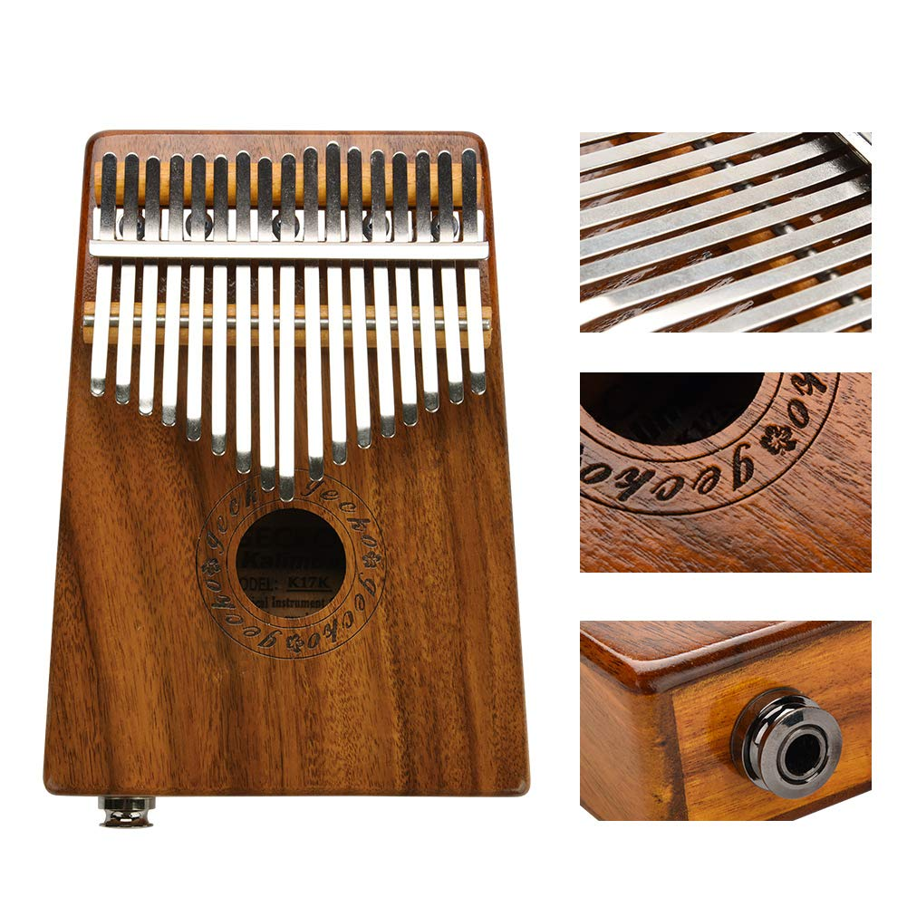 Kalimba 17 Keys Acacia(KOA) Thumb Piano and EVA High Performance Protection Box, Tuning Hammer, Professional models by GOTOTOP