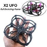 X2UFO 78mm Mini FPV Quadcopter Frame Carbon Fiber Full Encircling Frame Kit for Mini for 1103 1104 1105 1106 Brushless Motor by Crazepony