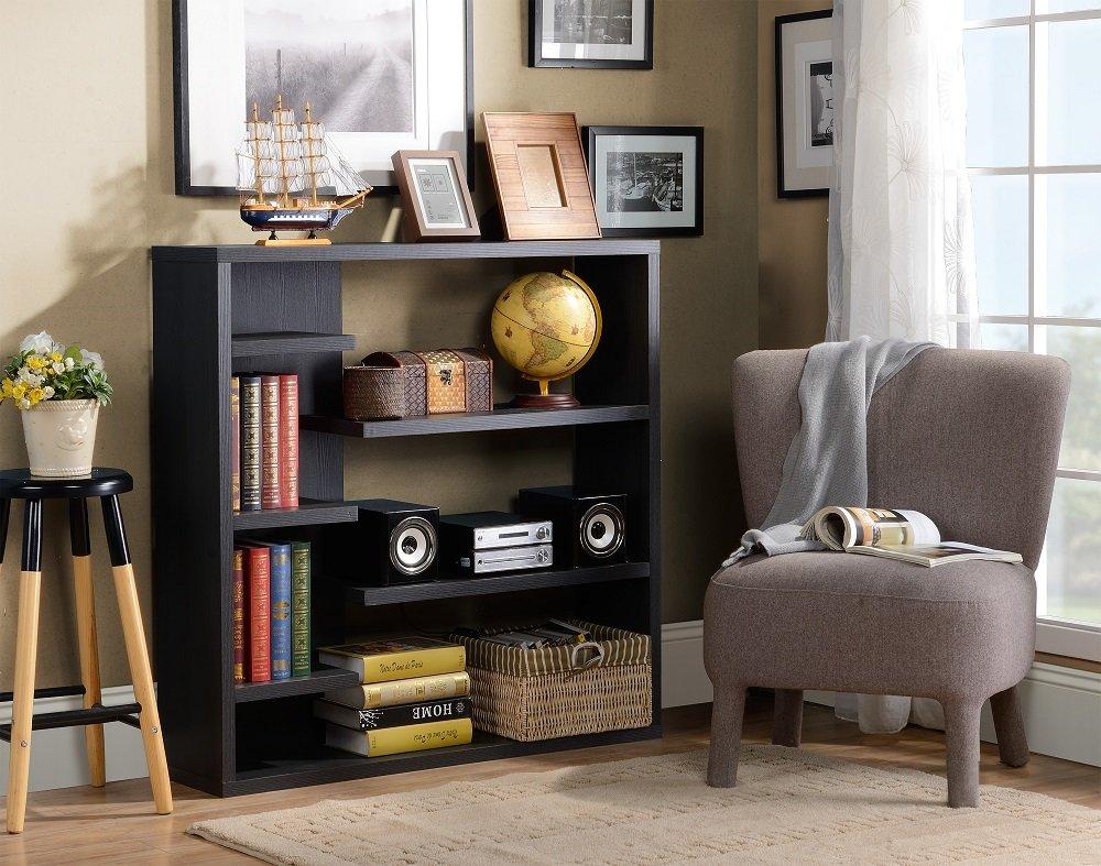 Homestar 6-Shelf Storage Bookcase in Espresso