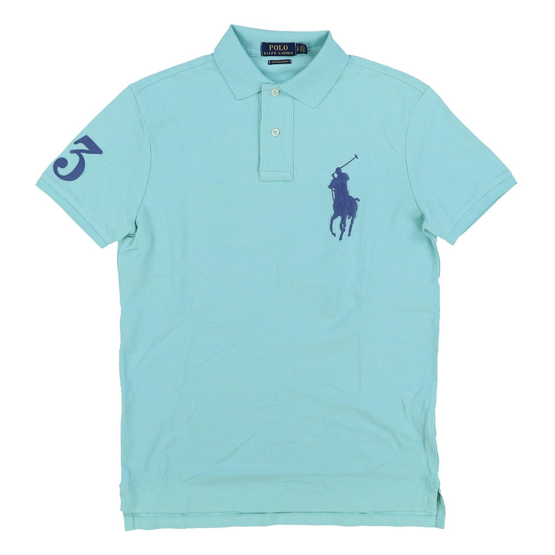 Polo Ralph Lauren Mens Custom Fit Big Pony Mesh Polo Shirt: Amazon ...