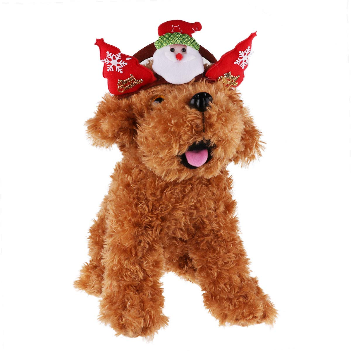 CHICTRY Dog Christmas Headbands Puppy Cat Festive Headdress Hair Accessories for Xmas Holiday Party Pet Costume Supplies Santa M