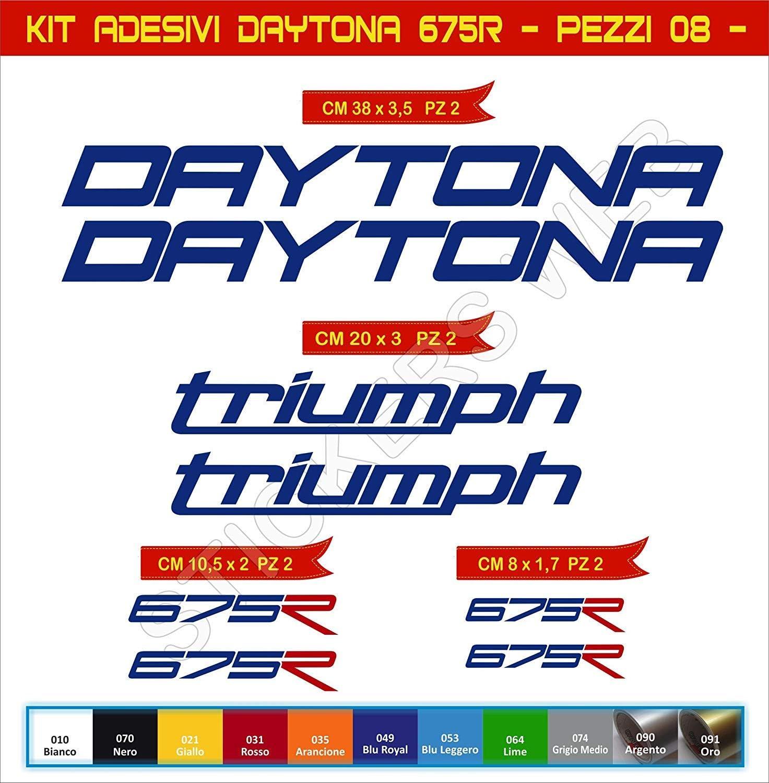 SUPERSTICKI Daytona Triumph 675R Set Aufkleber ca 30cm Motorrad Aufkleber Bike Auto Racing Tuning aus Hochleistungsfolie Aufkleber Autoaufkleber Tuningaufkleber Hochleistungsfolie f/ür alle