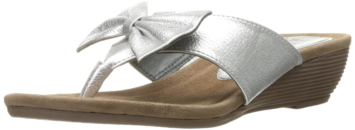 J.Renee Women's Ayala Wedge Sandal B0172CV9TO 8 B(M) US|Platinum