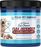 Texas Pet Company Flea and Tick Prevention for Dogs Flea Defender All Natural Flea and Tick Repellent Soft Chews for…