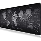Mouse Pad, JRINTL Extended Gaming Mouse Pad Large Size 800x300mm Ergonomic Multipurpose Comfortable Anti-Fray Stitched…