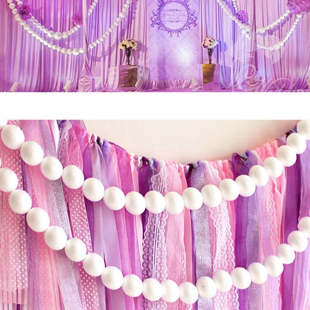 White Amosfun 100Pcs Styrofoam Balls Solid Polystyrene Round and Smooth Craft Foam Balls for Christmas Wedding Ornament DIY Art Homework Paint Modeling Projects 4cm