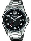 Casio MTP-1372D-1BVEF - Reloj analógico de cuarzo para hombre con correa de acero inoxidable, color plateado