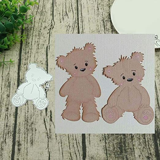 Brown bear and clothes Metal Cutting Dies Stencils Scrapbook Decorative Embossin