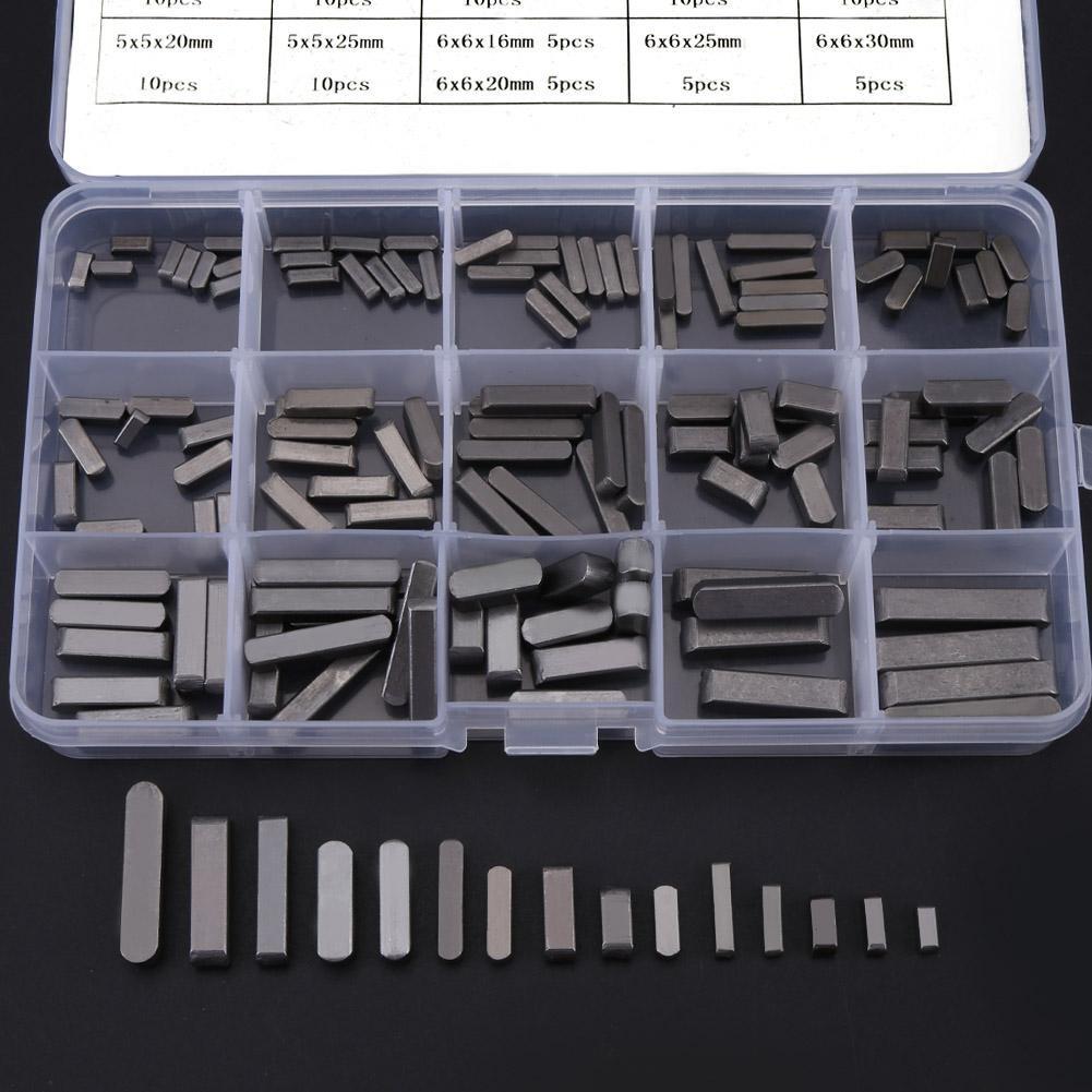 Llaves de eje de Transmisi/ón Paralelas Set 8 mm ~ 30 mm Akozon 140pcs Pilares de Lat/ón