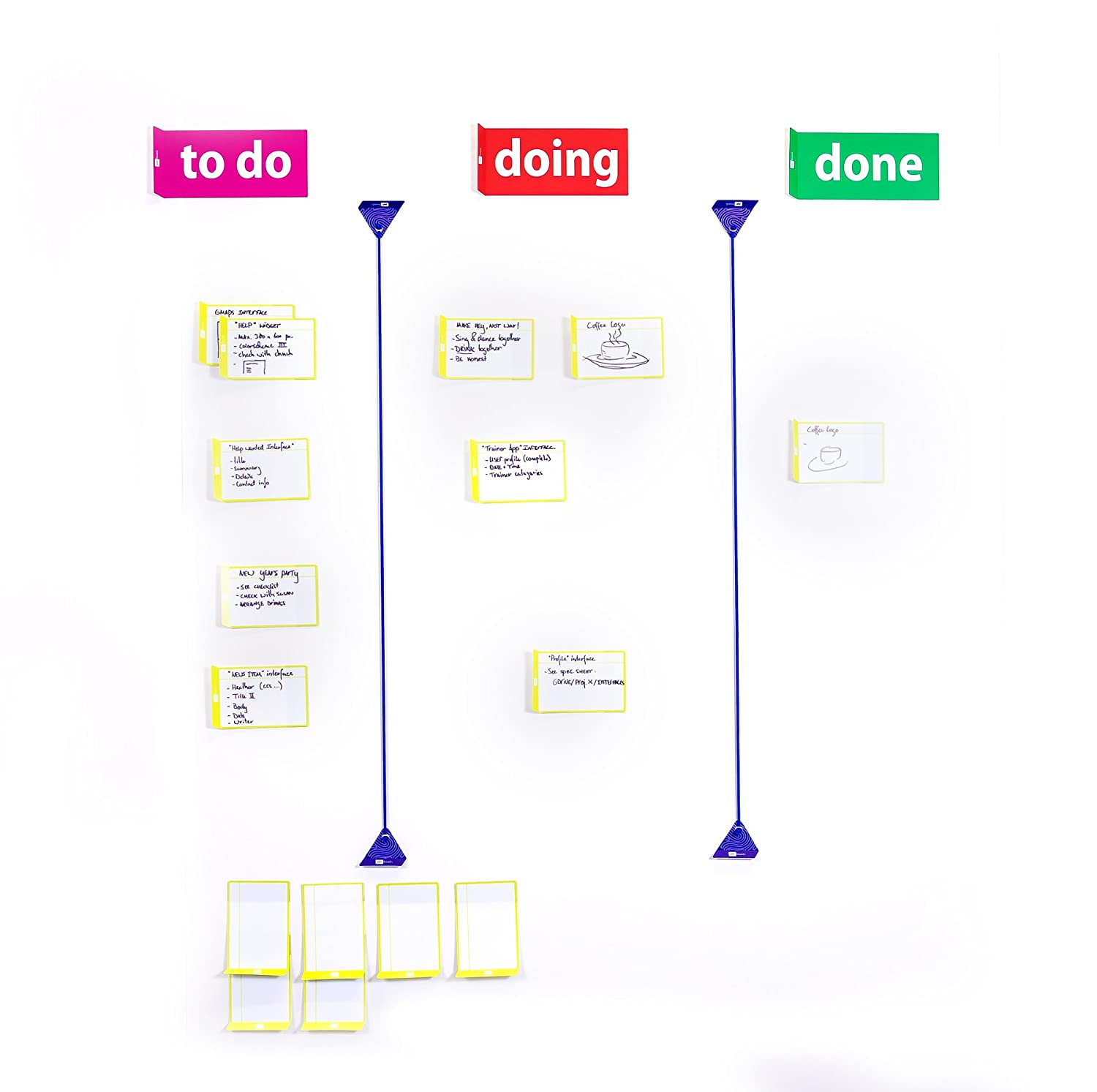 Scrum Board Home Tool Set for Agile Scrum kanban - Magnetic Planning Tools for Task Board PATboard.com