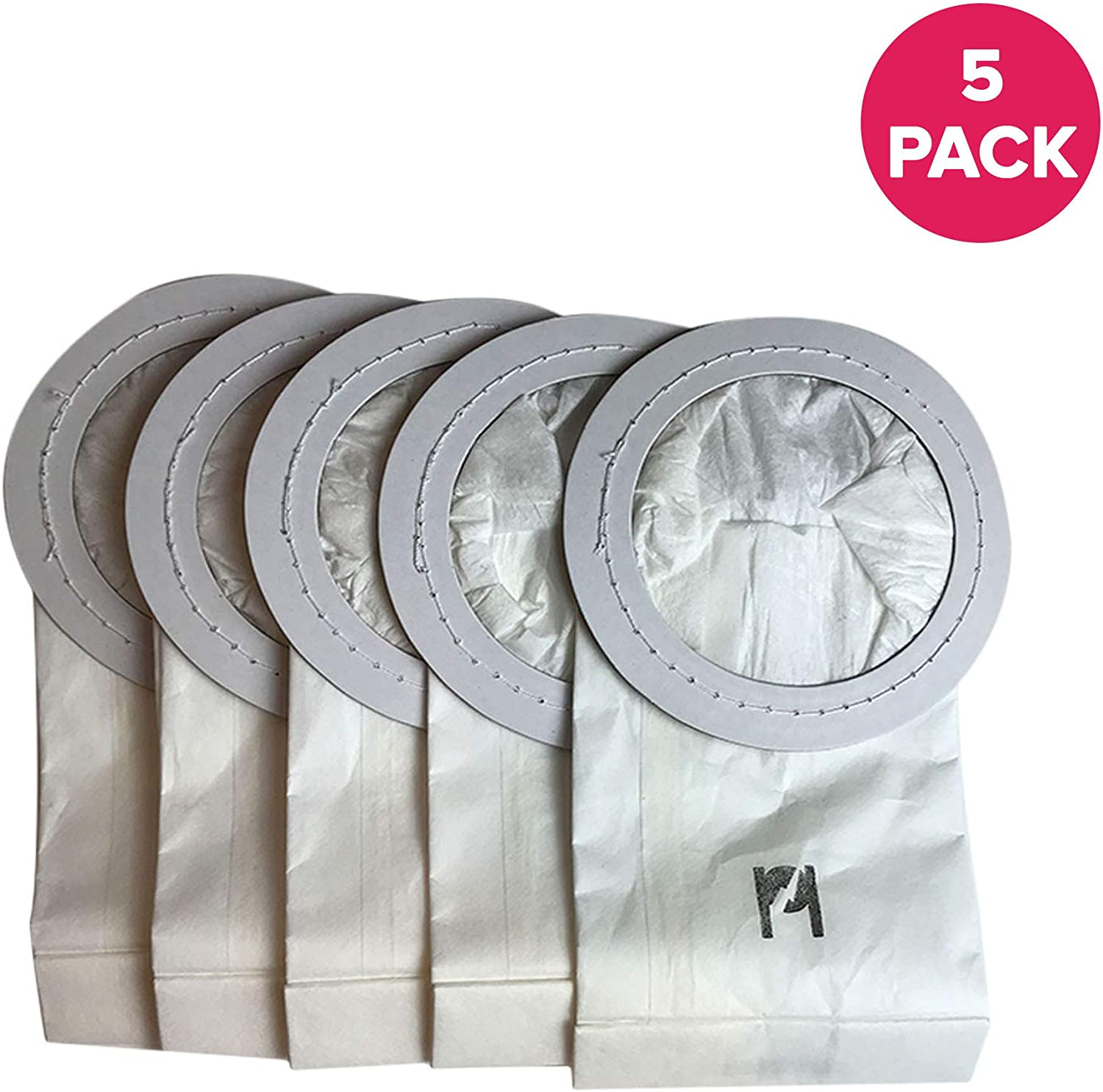 Crucial Vacuum Replacement Paper Vac Bags Part # PKIM765, 61963 - Compatible With Oreck Models IM76, IM88, IM90, IM98 - XL Ironman Vacuum Bags - Fit Kenmore, Sears Dynomite Celoc Canister (5 Pack)