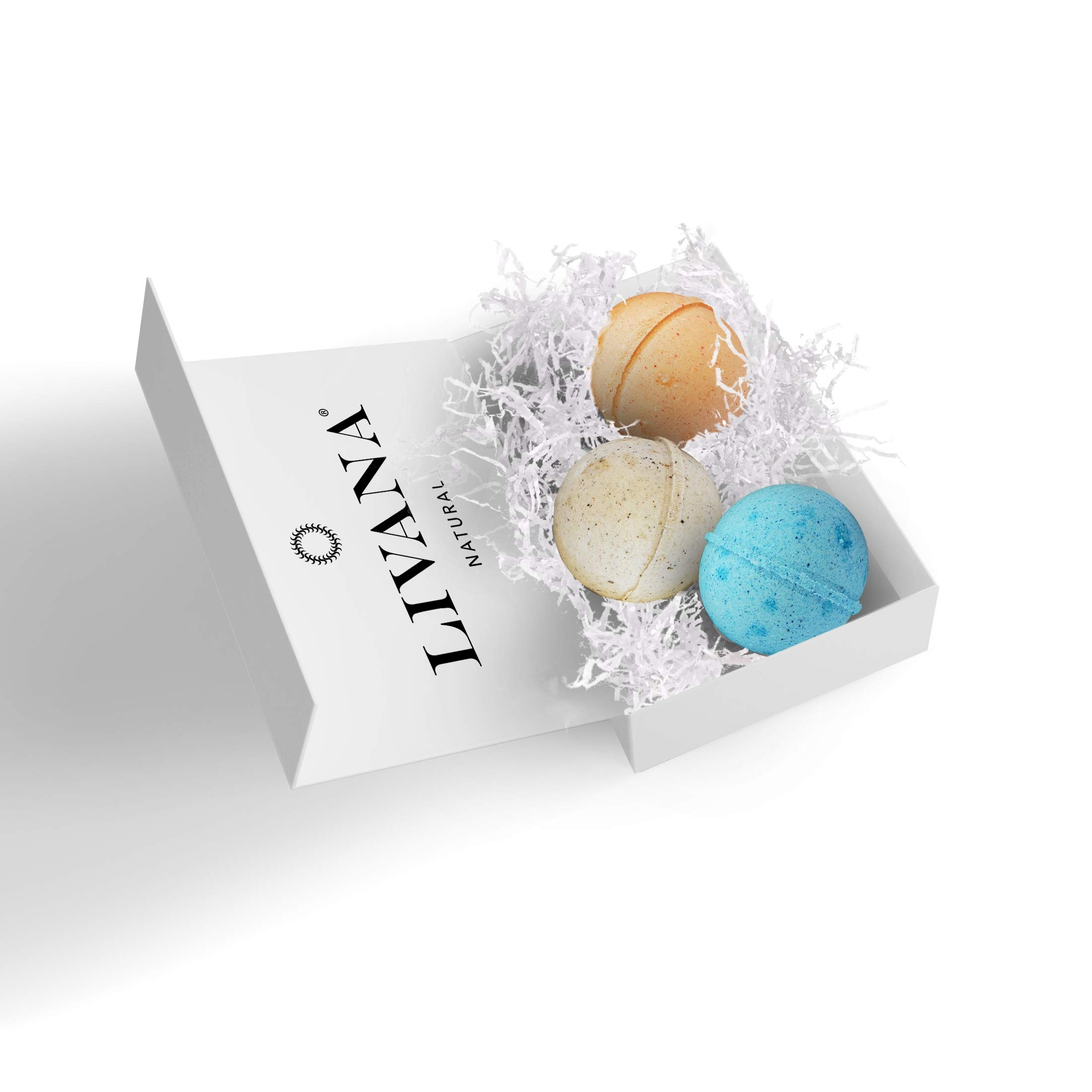 Morning, Noon & Night Bath Bombs Gift Set made in the USA, Moisturizes, Perfect for Bubble & Spa Bath. Handmade Birthday, Gift ideas For Her/Him, mom, wife, girlfriend