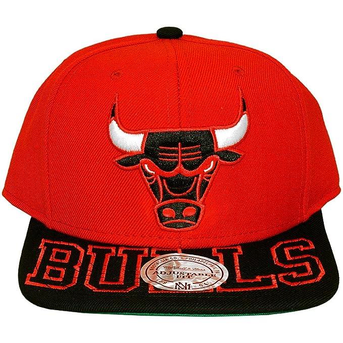 Mitchell Ness-Cappello con visiera dei Chicago Bulls Visor Hit ... 9dd74d1685a1