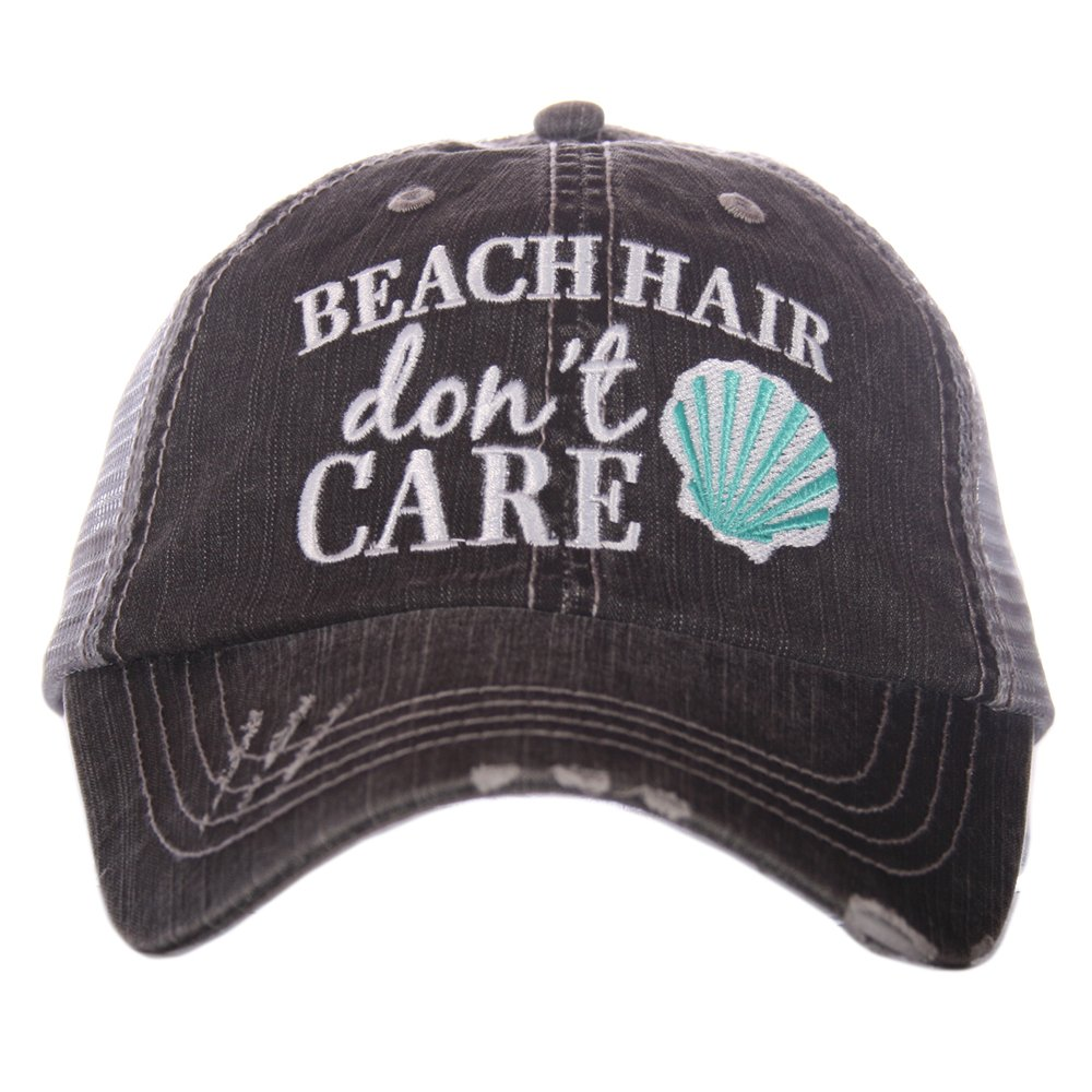 f39024d7506e26 Katydid Beach Hair Don't Care Shell Women's Trucker Hat Cap by product image