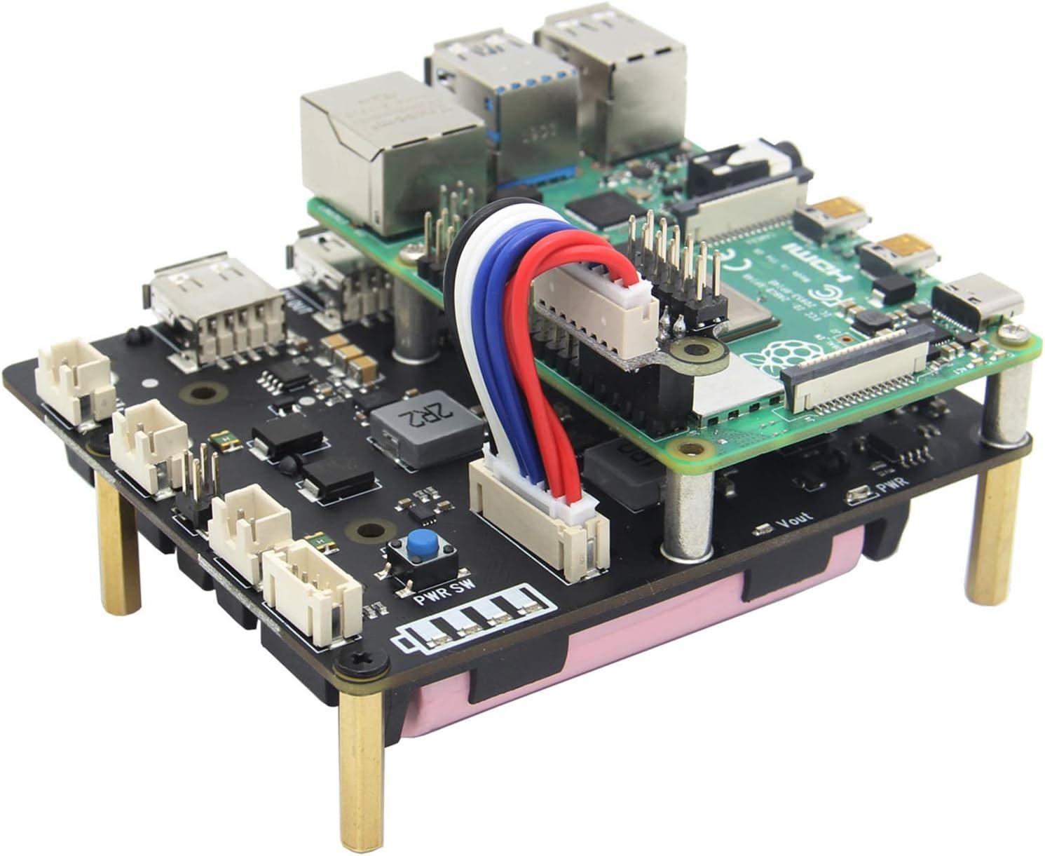 Geekworm Raspberry Pi 4 3b 3b 18650 Ups Hat Mit Computer Zubehör