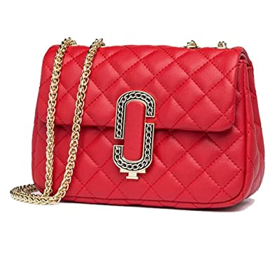 da27e1b9db4f Women s Classic Quilted Crossbody Purse Shoulder Bags Golden Chain Satchel  Handbags (Red)  Handbags  Amazon.com