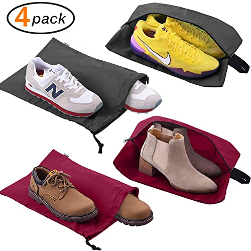 383565591718 Amazon.com  Travel Golf Shoe Bags For Men   Women 4-Pack Nylon Shoe ...