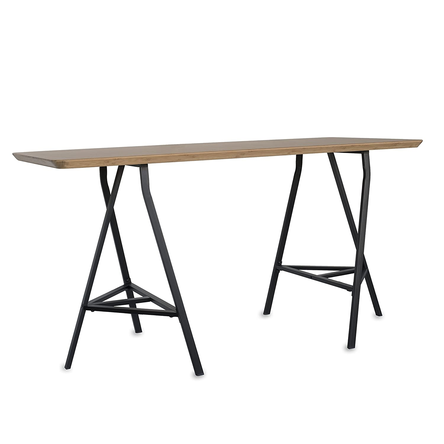 Amazon.com: Sturdy Crosscut Trestle Table Legs ,28 Inch Perfect For Home  Office Desk , Work Station Or Table ,Pack Of 2 (Black With Storage):  Kitchen U0026 ...