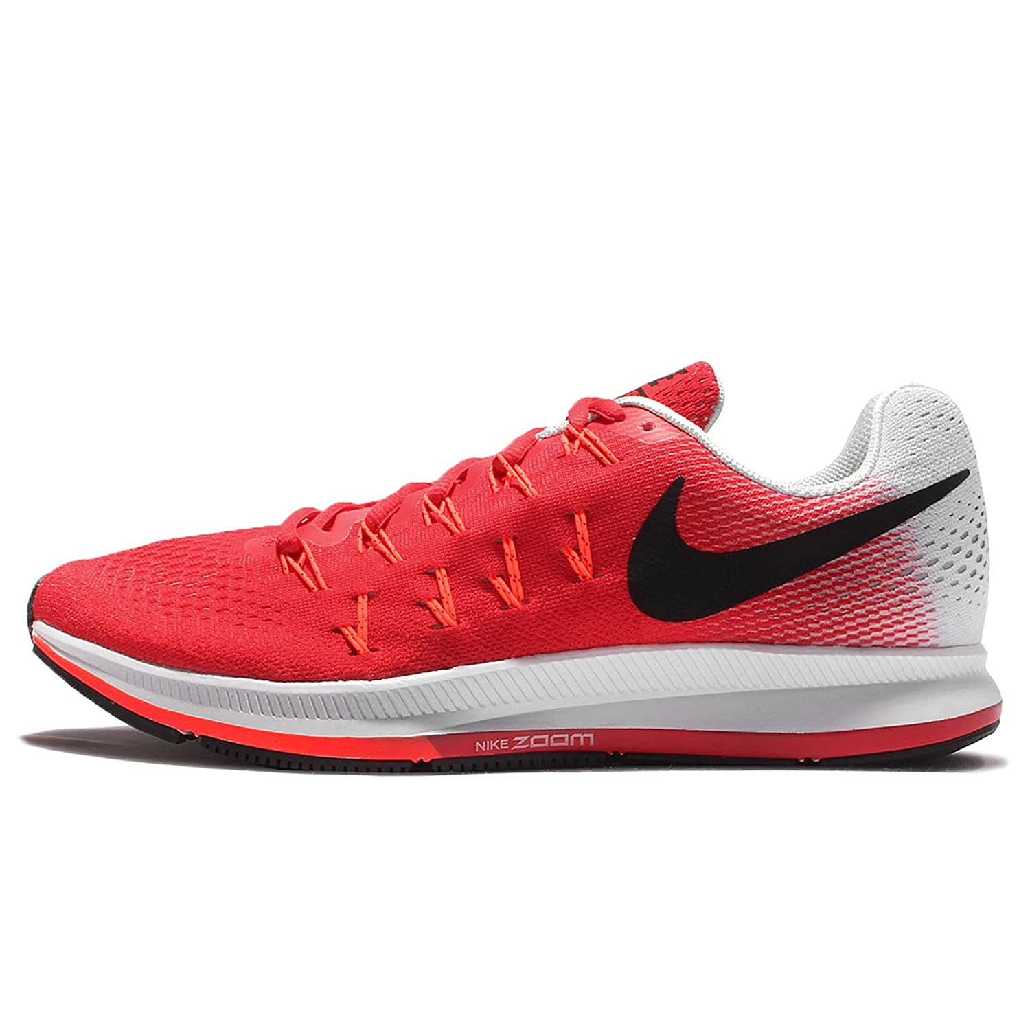 on sale 3f169 0bd4a Nike Men s Air Zoom Pegasus 33, Action Red Black-Pure Platinum-Total  Crimson - 9 D(M) US  Buy Online at Low Prices in India - Amazon.in