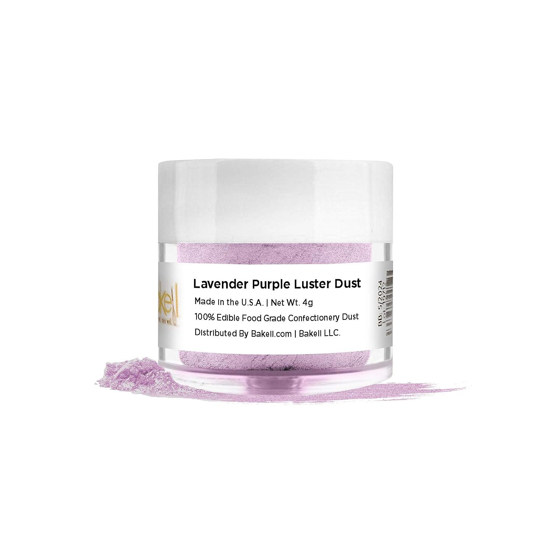 BAKELL Lavender Purple Edible Luster Dust & Paint, 4 Gram | LUSTER DUST Edible Powder | KOSHER Certified Paint, Powder & Dust | 100% Edible & Food Grade| Cakes, Vegan Paint & Dust (Lavender Purple)