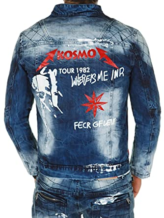3c83bf95ba937 Kosmo Lupo Herren Jeansjacke Jeans Jacke Denim