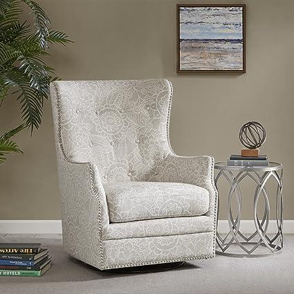 Merveilleux Ella Swivel Glider Chair Cream See Below