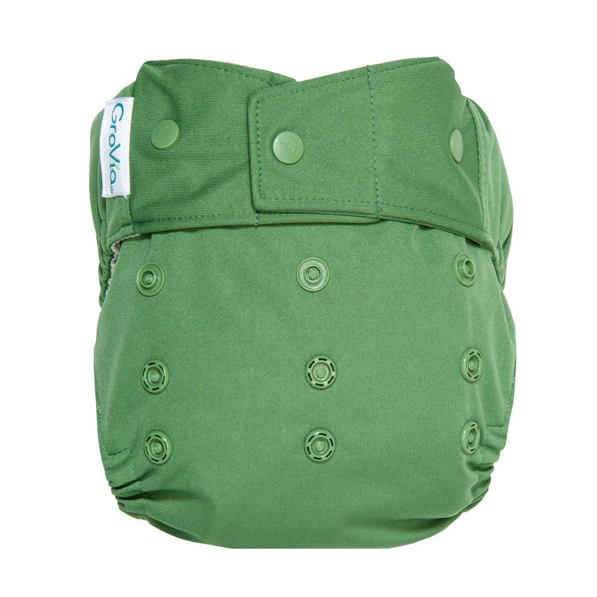 GroVia Reusable Hybrid Baby Cloth Diaper Snap Shell (Basil) by GroVia