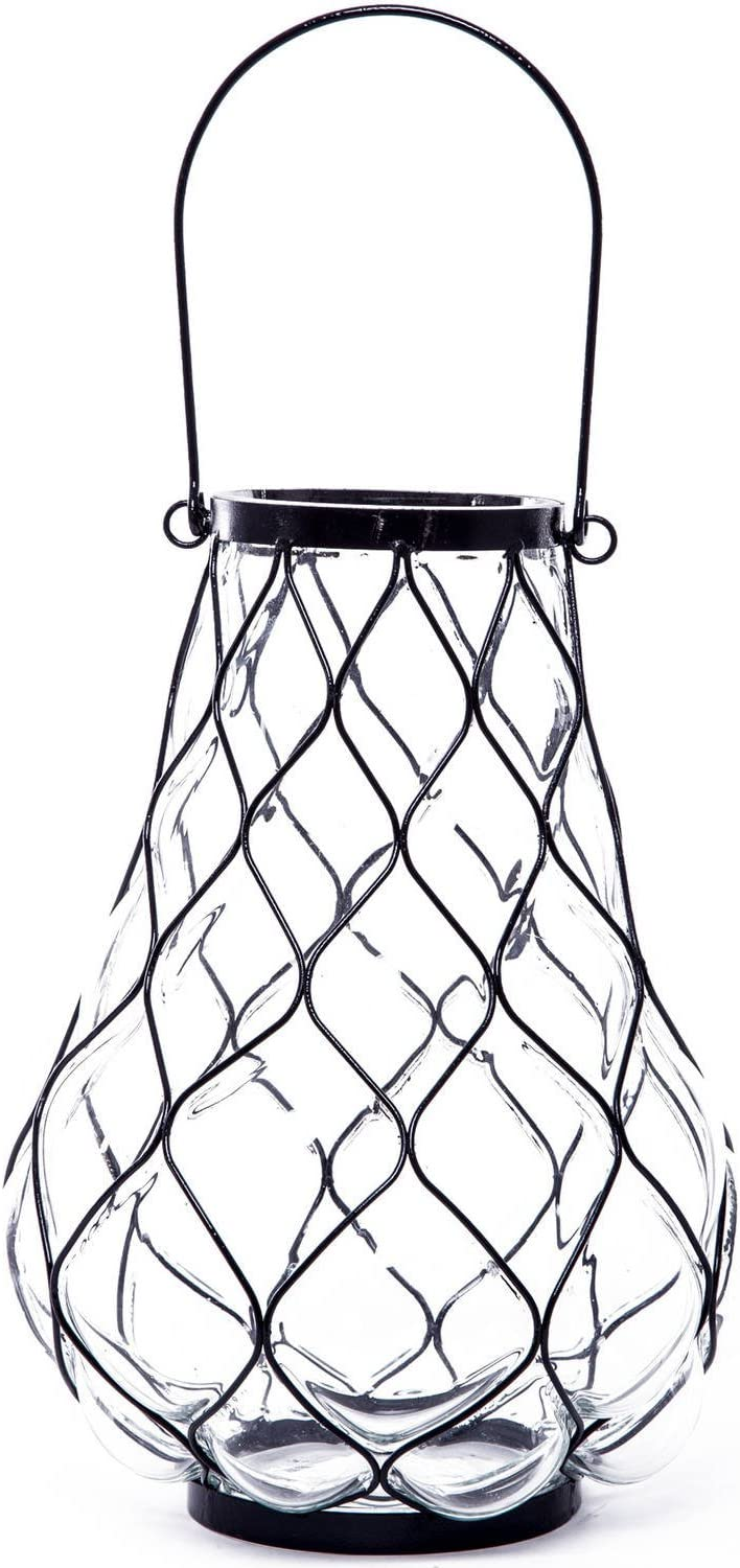 Better Homes and Gardens BH17-093-699-80 Pineapple Caged Lantern Black/Clear