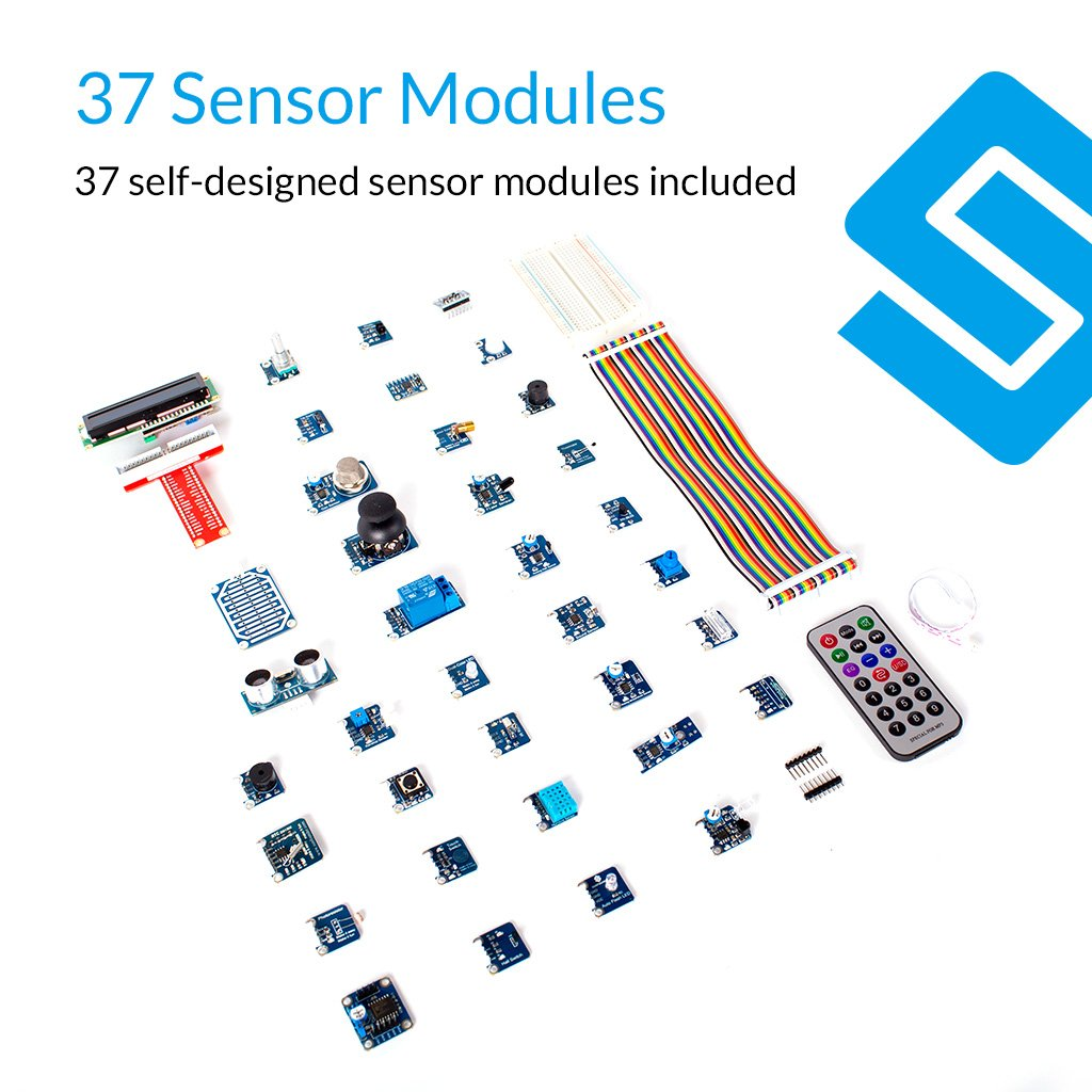 Buy Sunfounder 37 Modules Sensor Kit V20 For Raspberry Wiringpi Bluetooth Pi 3 2 Zero Rpi 1 Model B A 40pin Gpio Extension Board Jump Wires Online At Low