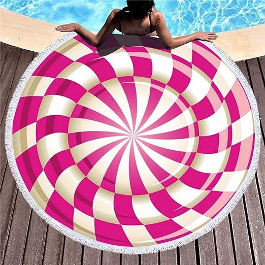 Simmia Home Extra Grande, Algodon sin Arena Tela Fina Algodon, Familiar la Playa Toalla de Playa Redonda Impresa Toalla de baño de Microfibra 150 * 150,8: Amazon.es: Hogar