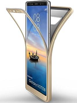 ivencase Funda Samsung Galaxy Note 8 Oro, Carcasa TPU Flexible ...