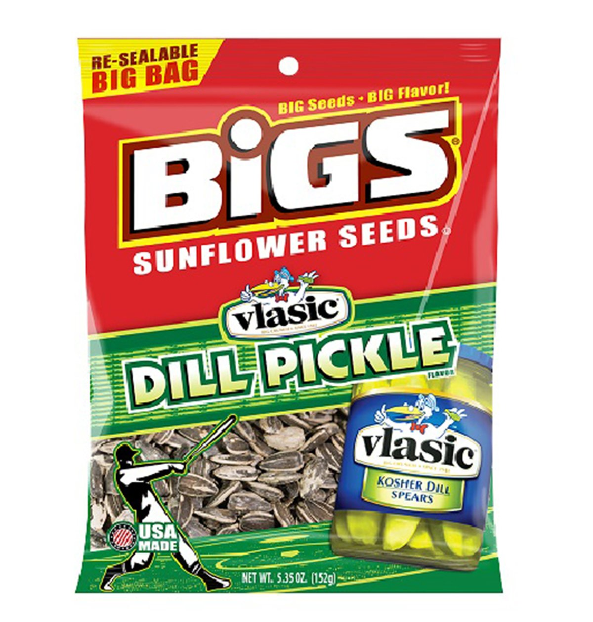 Product Of Bigs, Sunflower Seeds Dill Pickle - Bag, Count 12 (5.35 oz) - Sunflower Seeds / Grab Varieties & Flavors by BIGS