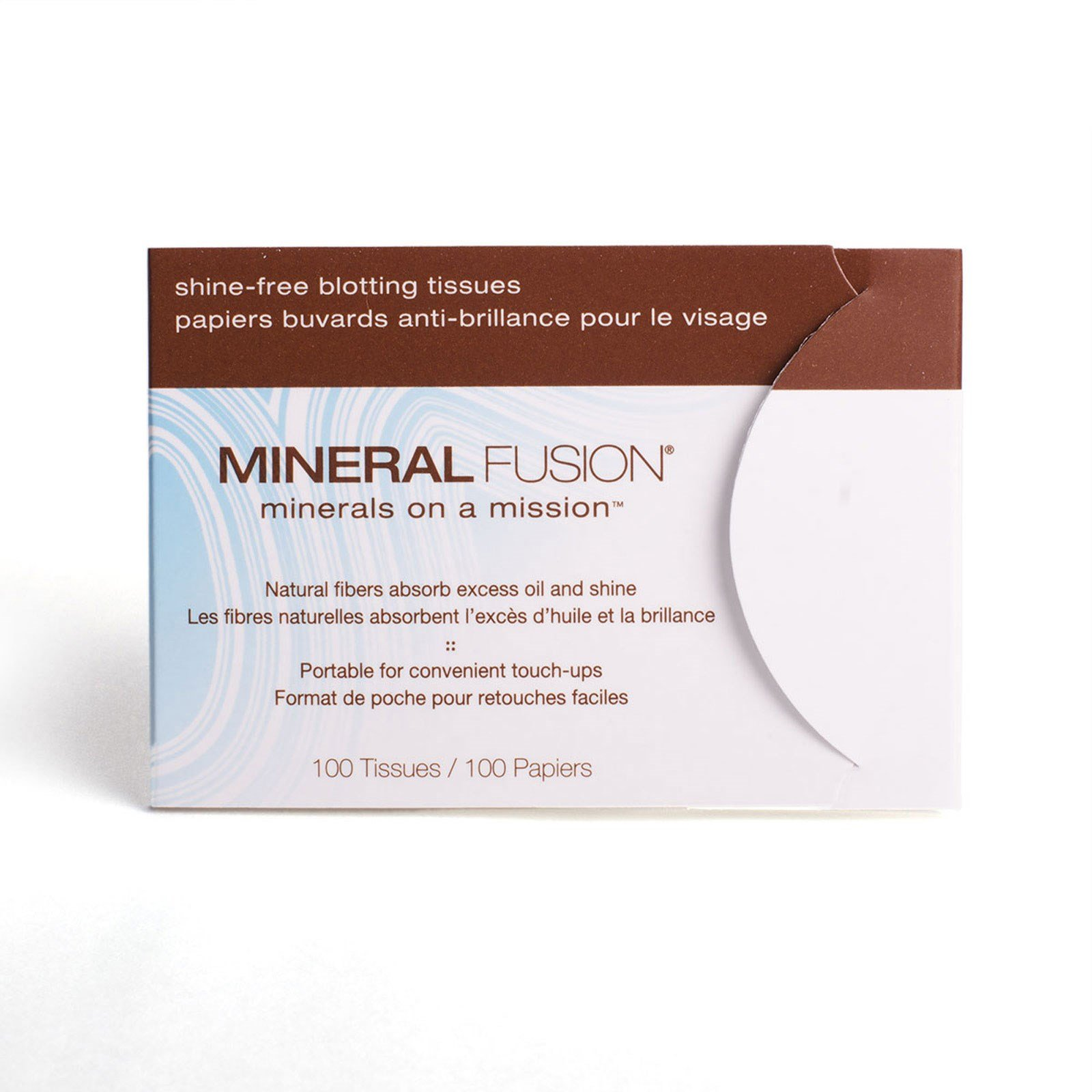 Mineral Fusion, Mineral Fusion, Shine-free, Blotting Tissues, 100 Tissues - 2pc