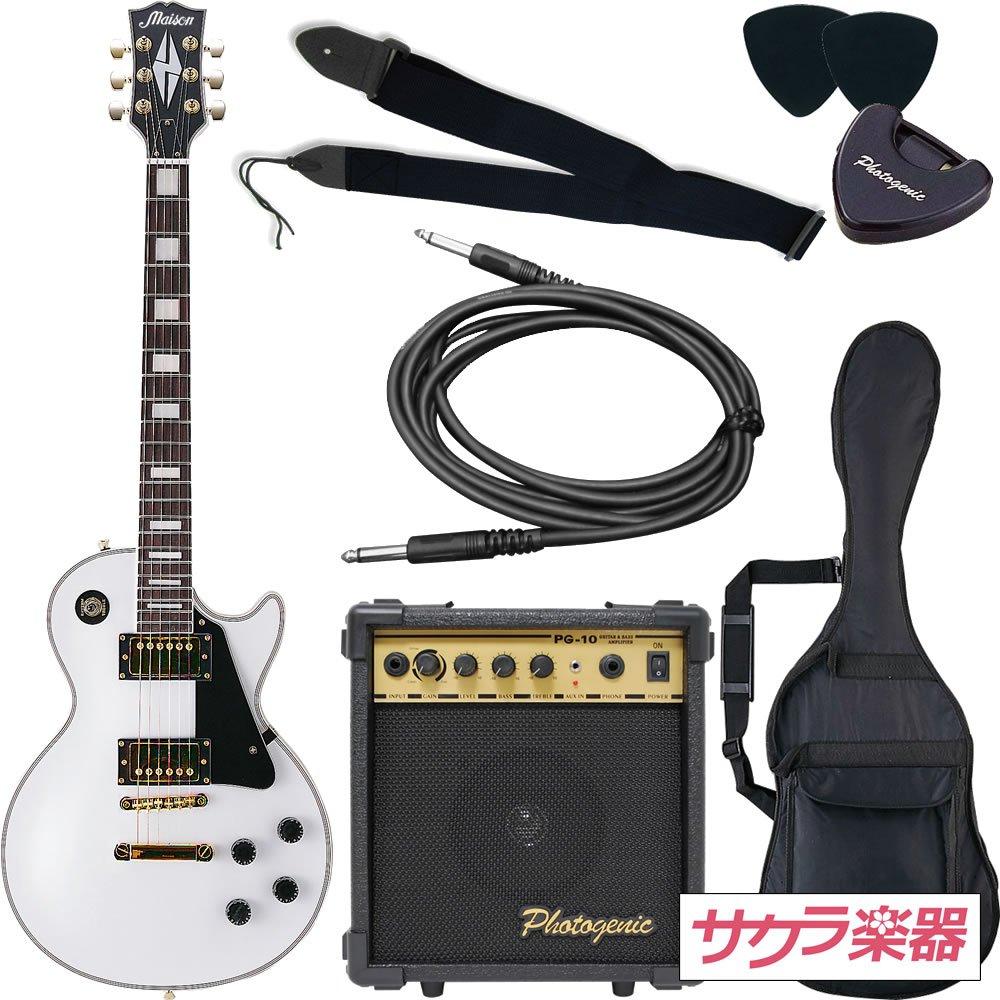 公式の  Maison LP-38/WH メイソン エレキギター レスポールタイプ サクラ楽器オリジナル LP-38/WH ホワイト 初心者入門7点セット Maison ホワイト B003P923IA, Ralph Land:394f9c2e --- suprjadki.eu