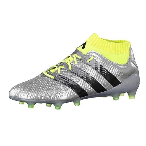 Adidas Ace 16.1 FG, Botas de Fútbol para Hombre, Plateado (Plamet/Negbas/Amasol), 43 1/3 EU