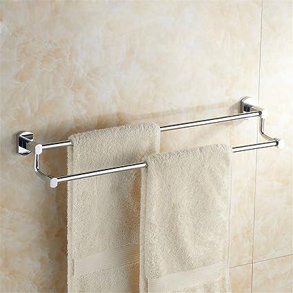Huihong Cobre Plena toallero para Colgar en Pared Tipo Baño Toallas ,50cm,Bipolar