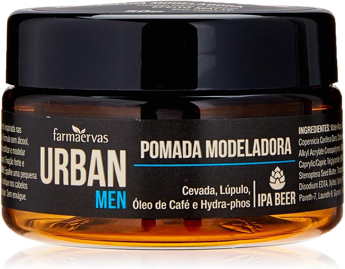Pomada Modeladora Urban Men IPA, Urban, Branca Transparente, 50G por Urban