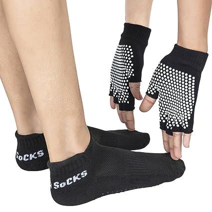 healthandyogatm yogafours – Yoga calcetines Yoga y palmeras | Yoga Pose alineación y estabilidad ayudar