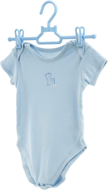 HANGERWORLD 5 Wei/ße Kleiderhaken Babykleidung 30cm Solide Kunststoff Kinder-Kleiderb/ügel