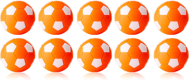 Robertson Bola futbolin Naranja Blanco 24gr 35mm 10 unid: Amazon.es: Deportes y aire libre