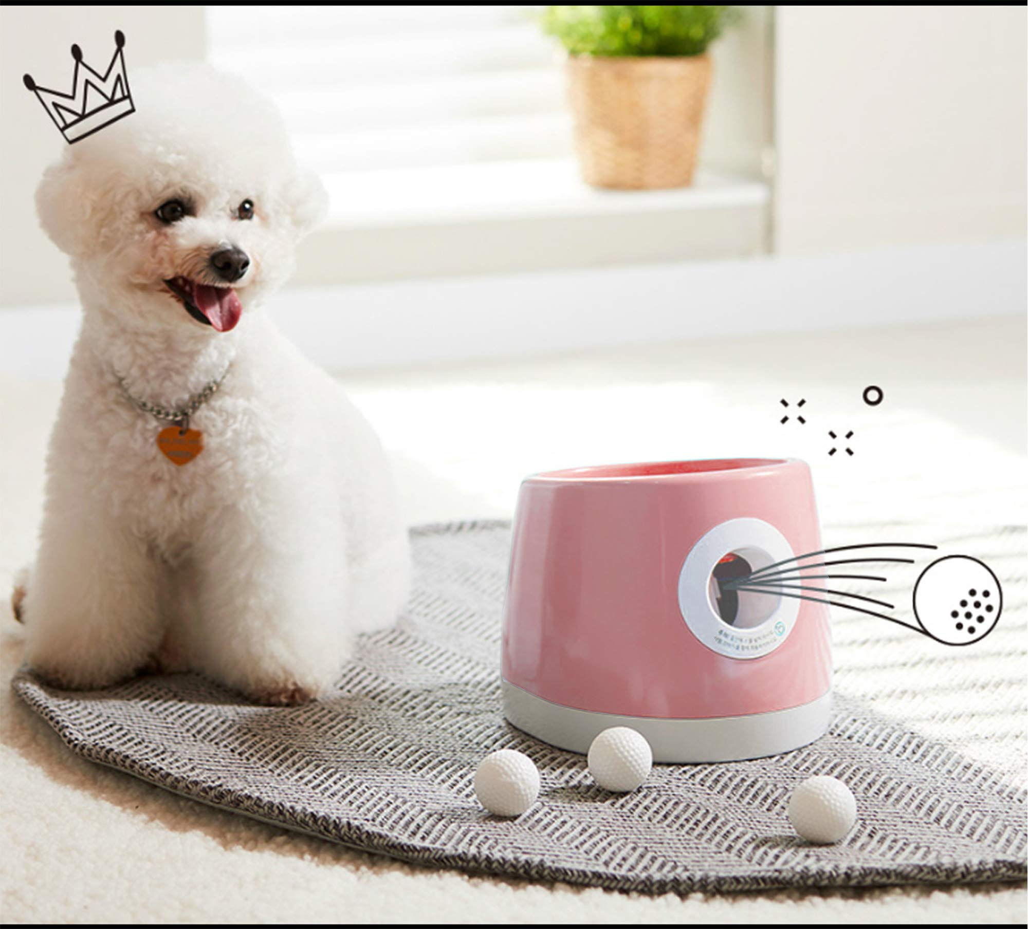 Doggyball DB-101 Automatic Ball Launcher Unlined Made in Korea Dog Toy Tennis Ball Throwing Machine for Dogs (Pink) by Doggyball