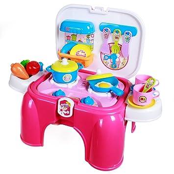 sgile juegos de cocina juguetes para nios cocinar alimentos juego taburete mltiple