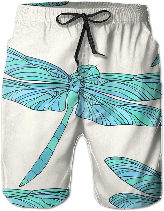DEYYA Mens Cute Cats Colorful Summer Beach Shorts Pants Swim Trunks Board Short for Men