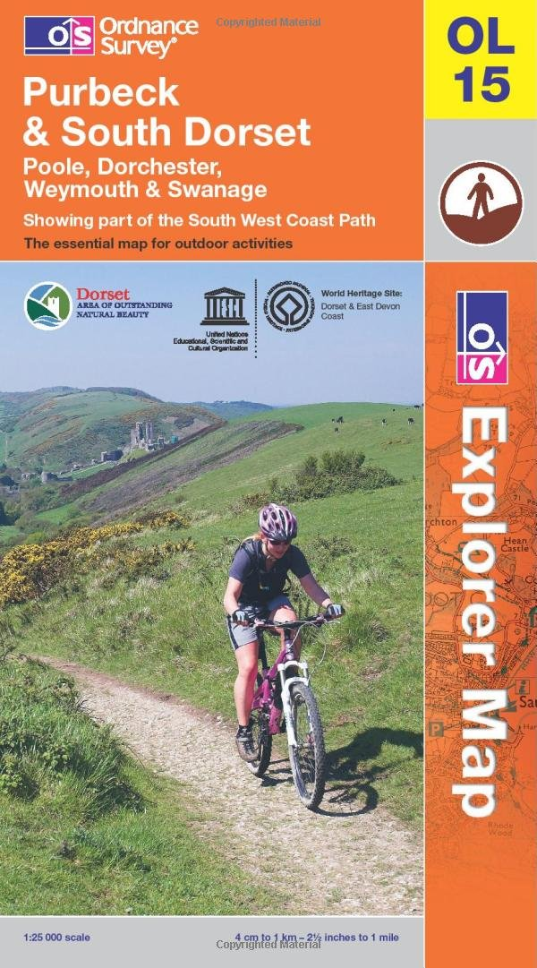 Purbeck and South Dorset, Poole, Dorchester, Weymouth & Swanage (OS Explorer Map)