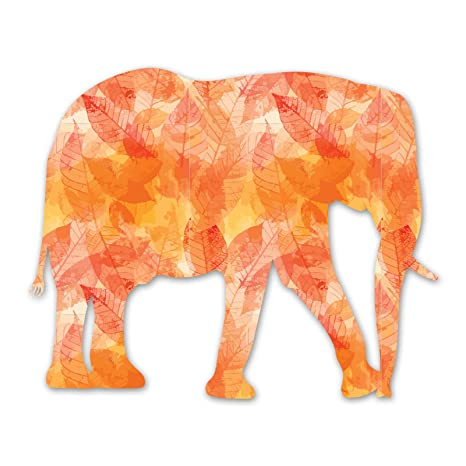 Amazon.com: Ninja Pickle Orange Elephant Decal for Your Car ...